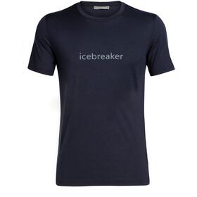 Icebreaker Tech Lite Wordmark Haut À Col Ras-Du-Cou À Manches Courtes Homme, midnight navy